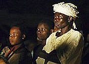 Central African Republic villagers watch Jesus film