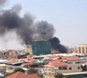 fire in Phnom Penh, Cambodia
