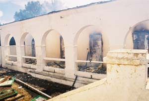 A hospital burns in Haiti, putting pressure on a Christian ministry