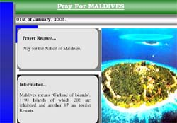 A year long prayer effort is underway for Muslim Maldives