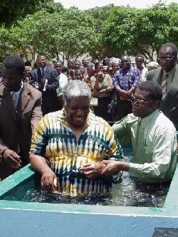 Zambia's president accepts Christ.
