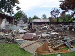 Indonesia, six months after the tsunami.