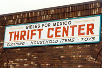 Thrift Centers raise money for Bible League Mexico work.