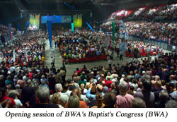12,000 gather in England for the Baptist World Alliance Centenary Congress.