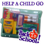 Pencils, paper and backpacks can open doors for outreach.