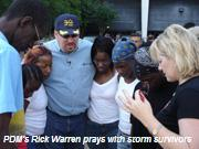Churches in Gulf Coast area are caring for more than 150,000 displaced hurricane survivors.