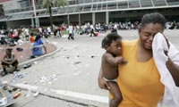 World Vision responds to meet needs of children and families impacted by Hurricane Katrina.