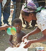 Evangelical leaders declare war on global hunger at Poverty Summit.