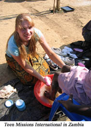 Foot washing teams share the Gospel in Zambia