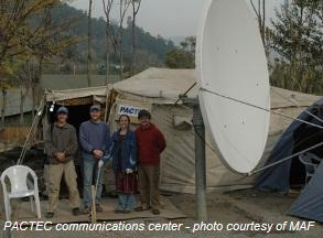PACTEC communications centers are a hub for facilitating aid work in Pakistan.