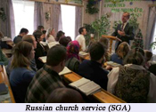 Russian church leaders detained for an evangelistic event