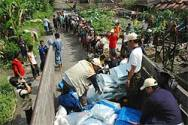 Relief workers witness grief, shock and devastating loss amidst earthquake survivors.