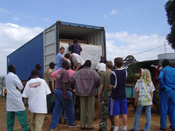 First medical container is delivered to Christian hospital in Kenya