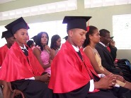 First graduating class from a Dominican Republic village.