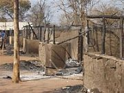 Fire damages training center  in Sudan.