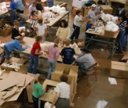 Volunteers country-wide come to help  aid organization for ministry