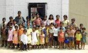 Children reach a village with the Gospel in India