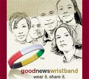 Wristbands help  spread the Gospel