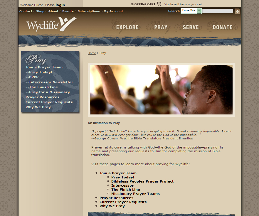 Prayer teams needed for Bible translation