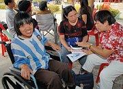 Thai woman receives wheelchair