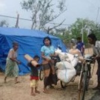 Myanmar junta evicts cyclone survivors