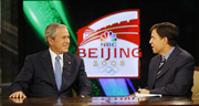 President Bush pushes religious freedom in China