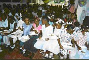 Children enjoy Christmas party
