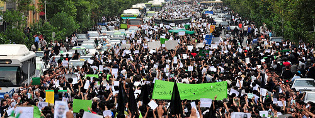 Iran's 'Green Revolution'  protests for freedom