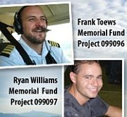 Memorial funds for pilot and mechanic