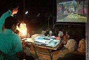 Violence halts film showings