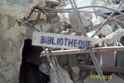 Haitian school damaged, staff is safe