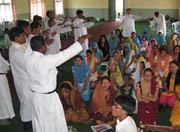 Teachers in Nepal go to school