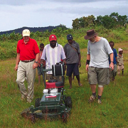 A lawnmower paves the way for Bible translation