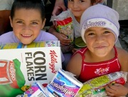 Peaches and Survival Paks to help starving children