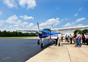 Celebration surrounds the dedication of a new ministry plane