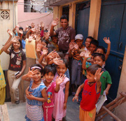 (Photo Courtesy Mission India) Mission India children's Bible club.