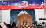 Ground breaking, moving ahead in Haiti