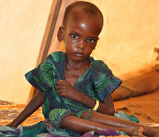Terrorists leave capital, famine relief continues