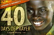 40 days of Prayer for the Bibleless World starts today