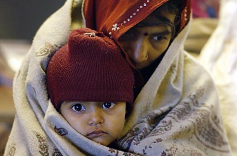 Blankets are needed for victims of the cold in India