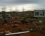 Weekend tornado damage opens Alabama wounds