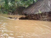 Floodwaters hit 80 villages