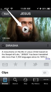 The Jesus Film Project has launched a new mobile app