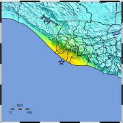 Strong quake off Pacific coast of Guatemala.