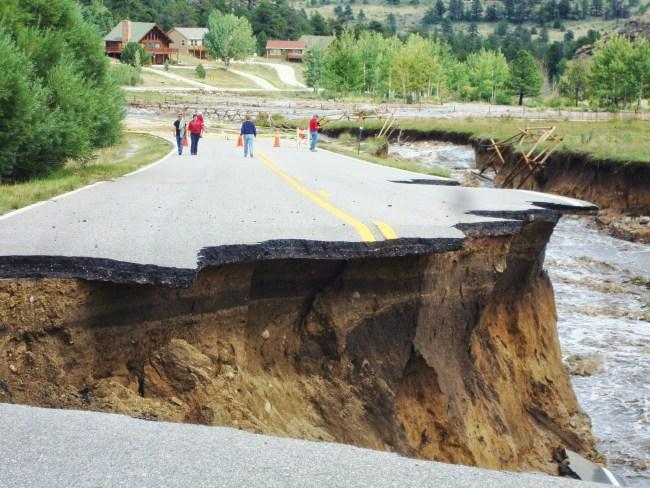 1000 year flood hits Colorado hard.