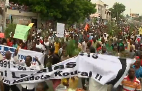 Protests build in Haiti