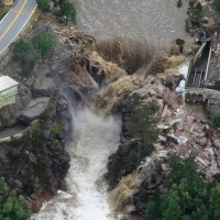 Hurricanes and floods with similar destruction patterns