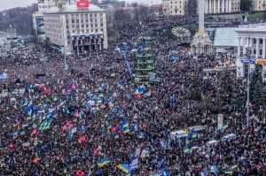 Twitter photo from protestors in Ukraine.
