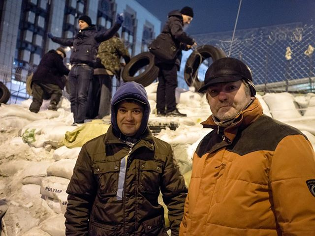 Russian Ministries workers at the center of the protests in Ukraine.