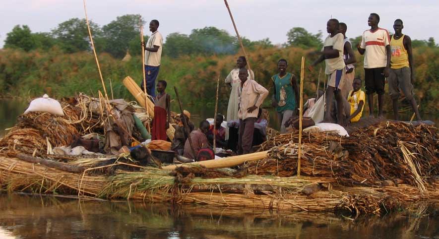 Refugees fleeing Juba, South Sudan